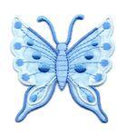 Applikation Patch Schmetterling 6,3 x 6,7cm Farbe: Hellblau