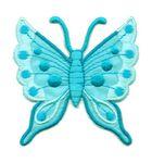 Applikation Patch Schmetterling 6,3 x 6,7cm Farbe: Türkis