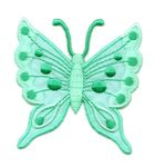 Applikation Patch Schmetterling 6,3 x 6,7cm Farbe: Hellgrün
