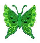 Applikation Patch Schmetterling 6,3 x 6,7cm Farbe: Grün