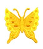 Applikation Patch Schmetterling 6,3 x 6,7cm Farbe: Orange