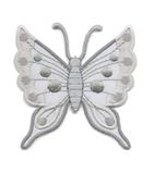 Applikation Patch Schmetterling 6,3 x 6,7cm Farbe: Grau