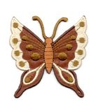 Applikation Patch Schmetterling 6,3 x 6,7cm Farbe: Dunkelbraun