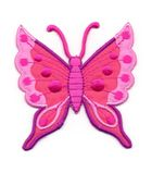 Applikation Patch Schmetterling 6,3 x 6,7cm Farbe: Fuchsia