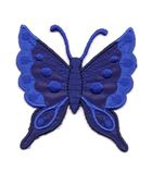 Applikation Patch Schmetterling 6,3 x 6,7cm Farbe: Dunkelblau