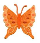 Applikation Patch Schmetterling 6,3x6,7cm Farbe: Pastellorange