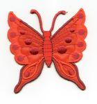 Applikation Patch Schmetterling 6,3 x 6,7cm Farbe: Blutorange