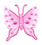 Applikation Patch Schmetterling 6,3 x 6,7cm Farbe: Pink