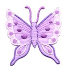 Applikation Patch Schmetterling 6,3 x 6,7cm Farbe: Violett