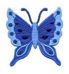 Applikation Patch Schmetterling 6,3 x 6,7cm Farbe: Dunkelblau