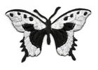 Applikation Patch Schmetterling 8,5x5,5cm Farbe: Schwarz-Weiss