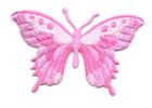 Applikation Patch Schmetterling 8,5 x 5,5cm Farbe: Pink