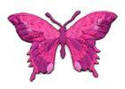 Applikation Patch Schmetterling 8,5 x 5,5cm Farbe: Fuchsia