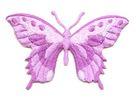 Applikation Patch Schmetterling 8,5 x 5,5cm Farbe: Violett