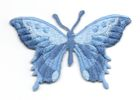 Applikation Patch Schmetterling 8,5 x 5,5cm Farbe: Stahlblau