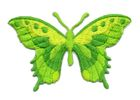 Applikation Patch Schmetterling 8,5 x 5,5cm Farbe: Neongrün
