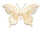 Applikation Patch Schmetterling 8,5 x 5,5cm Farbe: Beige