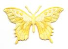 Applikation Patch Schmetterling 8,5 x 5,5cm Farbe: Gelb