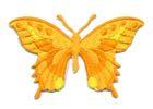 Applikation Patch Schmetterling 8,5 x 5,5cm Farbe: Orange