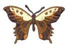 Applikation Patch Schmetterling 8,5 x 5,5cm Farbe: Braun