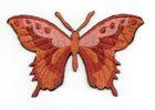 Applikation Patch Schmetterling 8,5 x 5,5cm Farbe: Rotorange