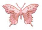 Applikation Patch Schmetterling 8,5 x 5,5cm Farbe: Altrosa