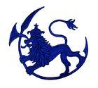 Applikation Patch Wappen Löwe 9,5x8,5cm Farbe: Dunkeblau