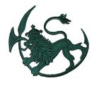 Applikation Patch Wappen Löwe 9,5x8,5cm Farbe: Tannengrün