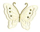 Applikation Patch Schmetterling 10,8 x 8cm Farbe: Elfenbein