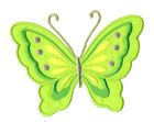 Applikation Patch Schmetterling 10,8 x 8cm Farbe: Hellgrün