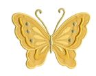 Applikation Patch Schmetterling 10,8 x 8cm Farbe: Goldocker