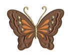 Applikation Patch Schmetterling 10,8 x 8cm Farbe: Dunkelbraun