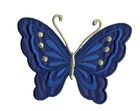 Applikation Patch Schmetterling 10,8 x 8cm Farbe: Dunkelblau