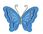 Applikation Patch Schmetterling 10,8 x 8cm Farbe: Blau