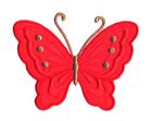 Applikation Patch Schmetterling 10,8 x 8cm Farbe: Rot