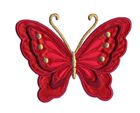Applikation Patch Schmetterling 10,8 x 8cm Farbe: Dunkelrot