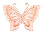 Applikation Patch Schmetterling 10,8 x 8cm Farbe: Orange