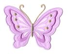 Applikation Patch Schmetterling 10,8 x 8cm Farbe: Flieder