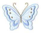 Applikation Patch Schmetterling 10,8 x 8cm Farbe: Hellblau