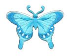 Applikation Patch Schmetterling 8 x 6cm Farbe: Blau