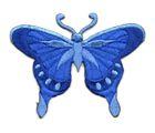 Applikation Patch Schmetterling 8 x 6cm Farbe: Royalblau