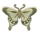 Applikation Patch Schmetterling 8 x 6cm Farbe: Zedergrün