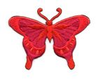 Applikation Patch Schmetterling 8 x 6cm Farbe: Dunkelorange