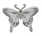 Applikation Patch Schmetterling 8 x 6cm Farbe: Grau
