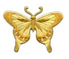 Applikation Patch Schmetterling 8 x 6cm Farbe: Goldocker