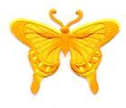 Applikation Patch Schmetterling 8 x 6cm Farbe: Orange