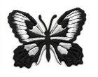 Applikation Patch Schmetterling 7,5x5,5cm Farbe: Schwarz-Weiss
