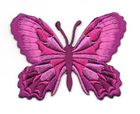 Applikation Patch Schmetterling 7,5 x 5,5cm Farbe: Fuchsia