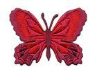 Applikation Patch Schmetterling 7,5 x 5,5cm Farbe: Bordeaux