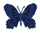 Applikation Patch Schmetterling 7,5 x 5,5cm Farbe: Dunkelblau